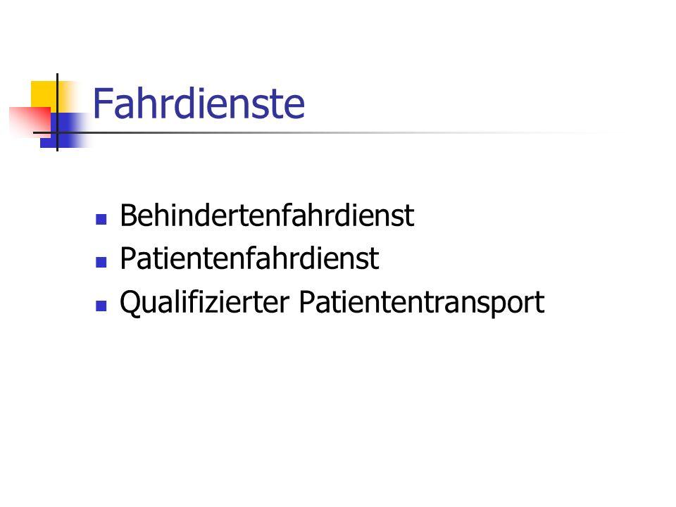 Fahrdienste Behindertenfahrdienst Patientenfahrdienst