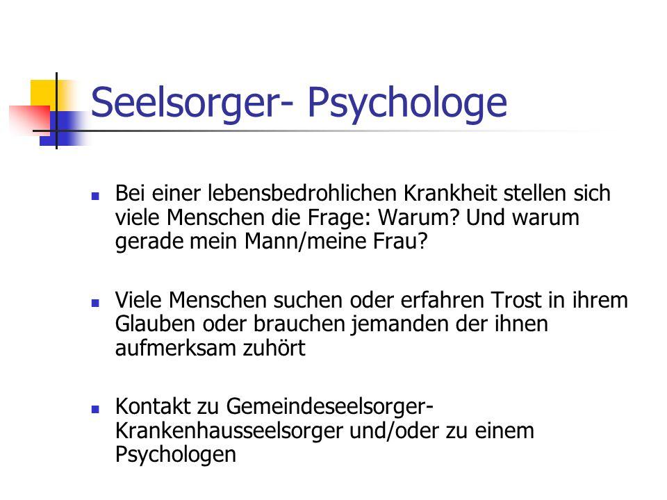 Seelsorger- Psychologe