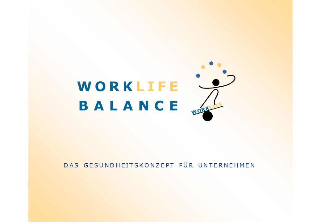 WORKLIFE WORKLIFE B A L A N C E DAS GESUNDHEITSKONZEPT FÜR UNTERNEHMEN