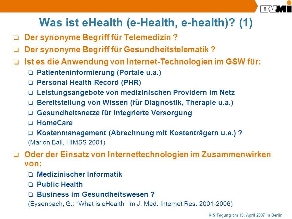 Was ist eHealth (e-Health, e-health) (1)