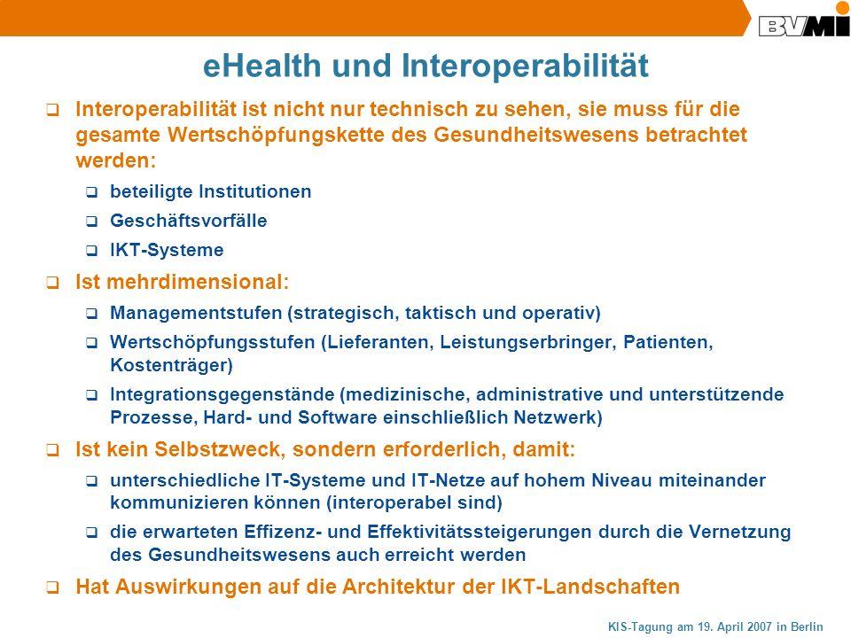 eHealth und Interoperabilität
