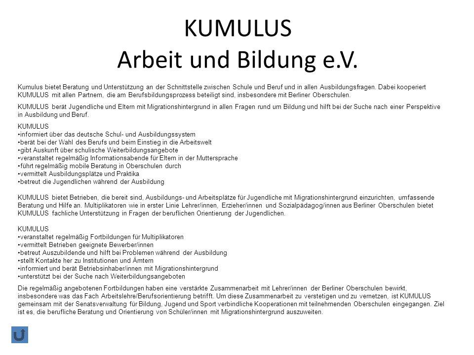 KUMULUS Arbeit und Bildung e.V.
