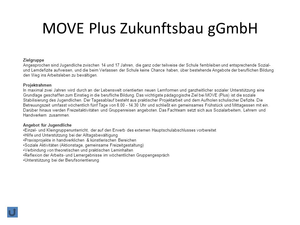 MOVE Plus Zukunftsbau gGmbH