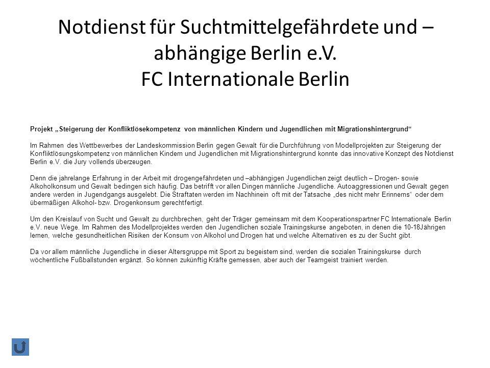 Notdienst für Suchtmittelgefährdete und –abhängige Berlin e. V