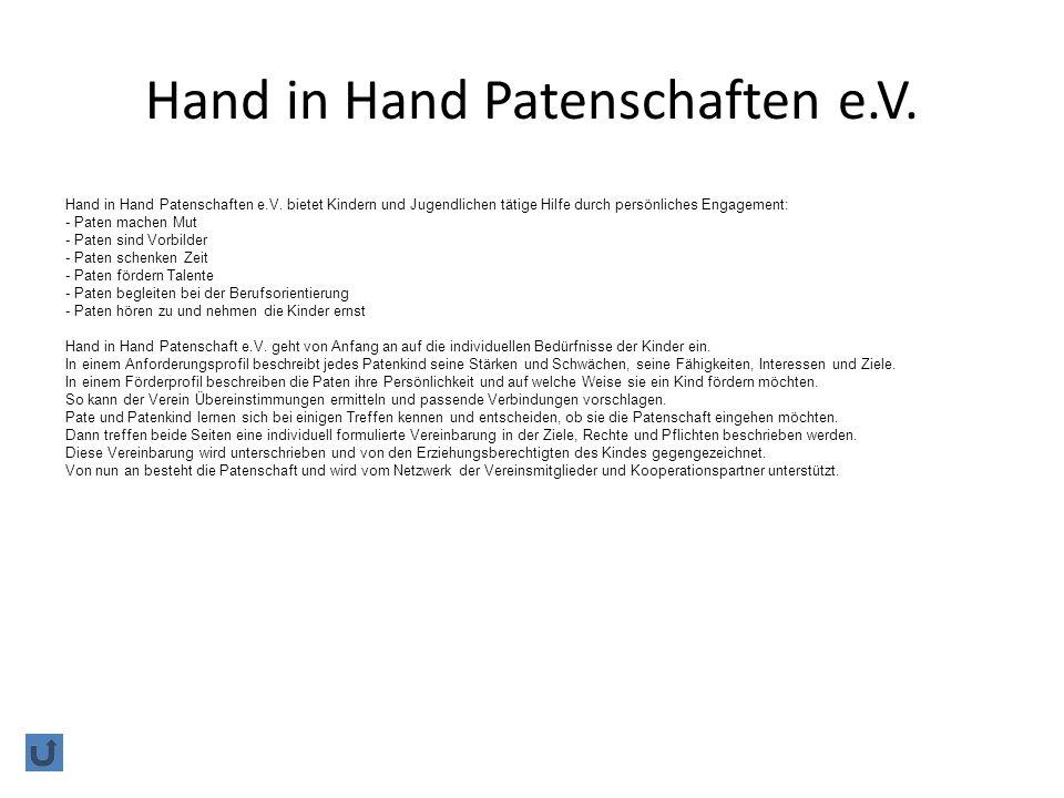 Hand in Hand Patenschaften e.V.