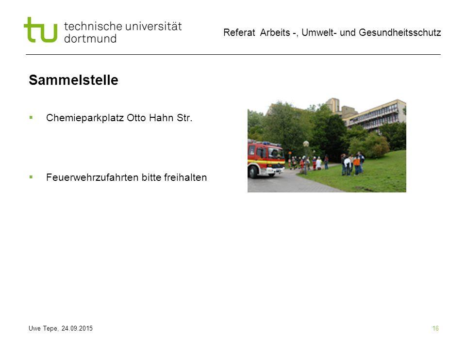 Sammelstelle Chemieparkplatz Otto Hahn Str.