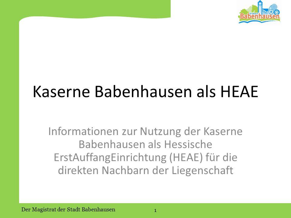Kaserne Babenhausen als HEAE