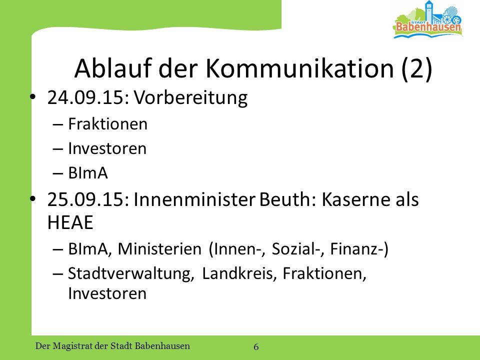 Ablauf der Kommunikation (2)