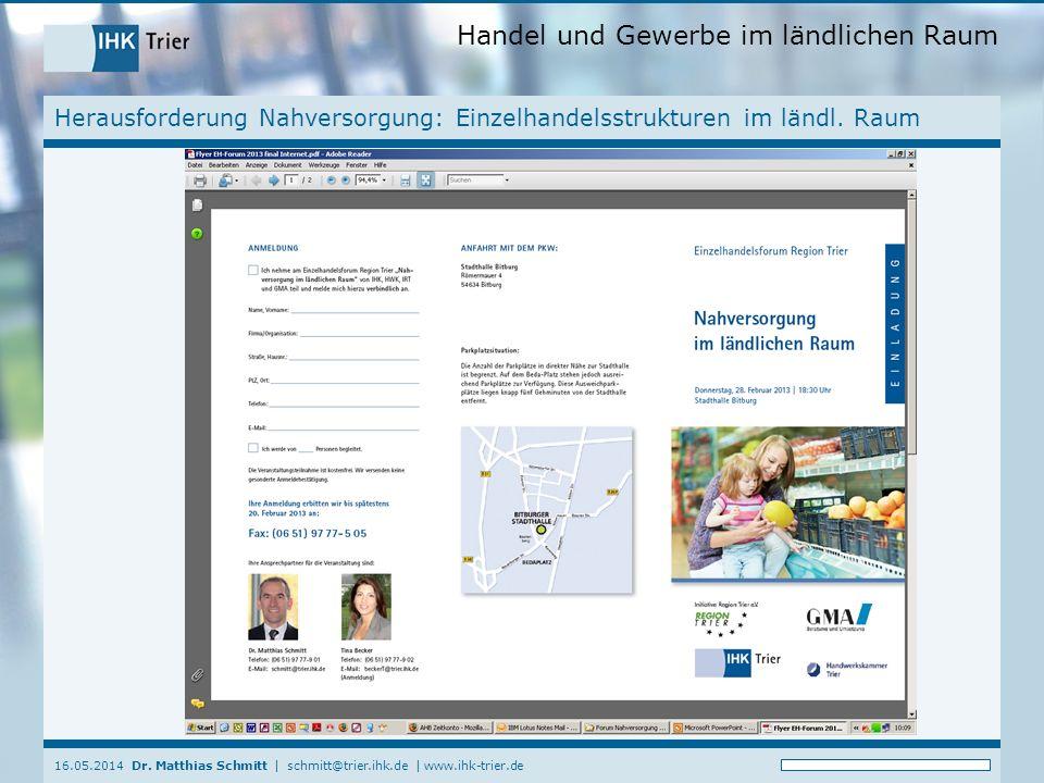 Herausforderung Nahversorgung: Einzelhandelsstrukturen im ländl. Raum