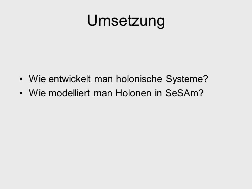 Umsetzung Wie entwickelt man holonische Systeme
