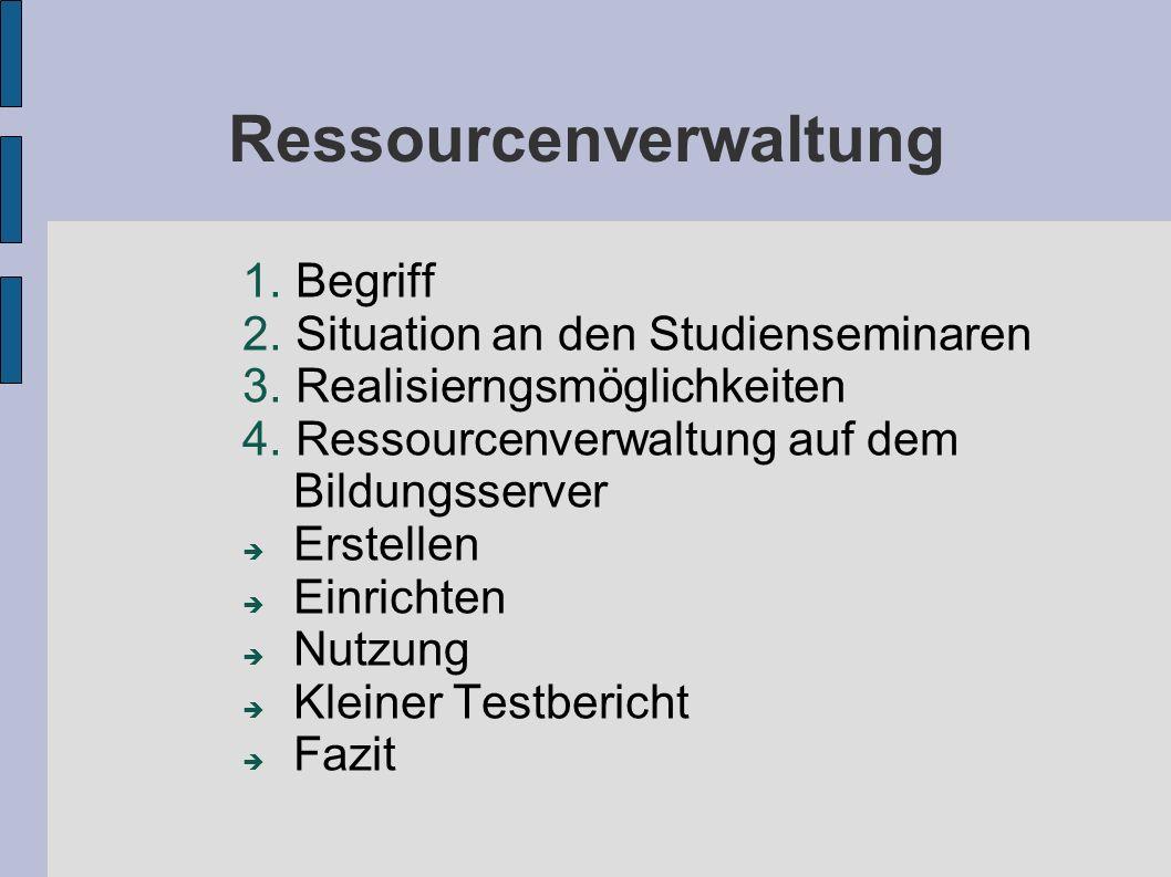 Ressourcenverwaltung