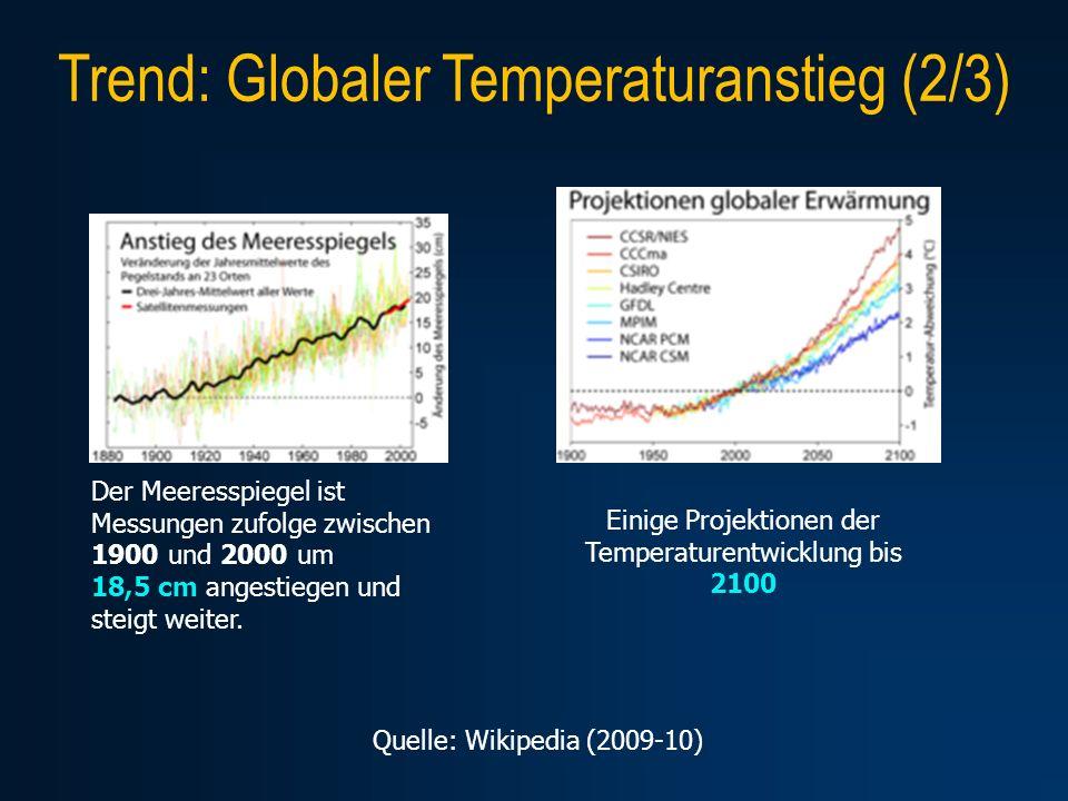 Trend: Globaler Temperaturanstieg (2/3)