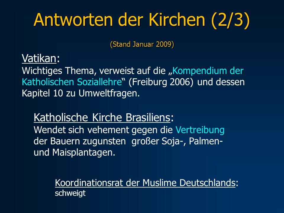 Antworten der Kirchen (2/3) (Stand Januar 2009)