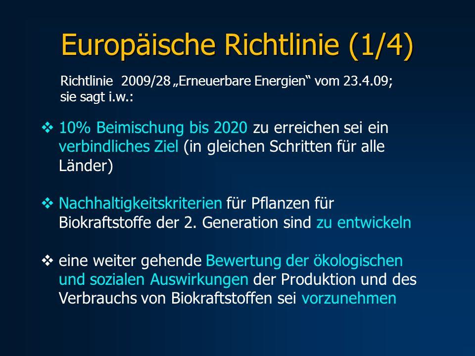 Europäische Richtlinie (1/4)