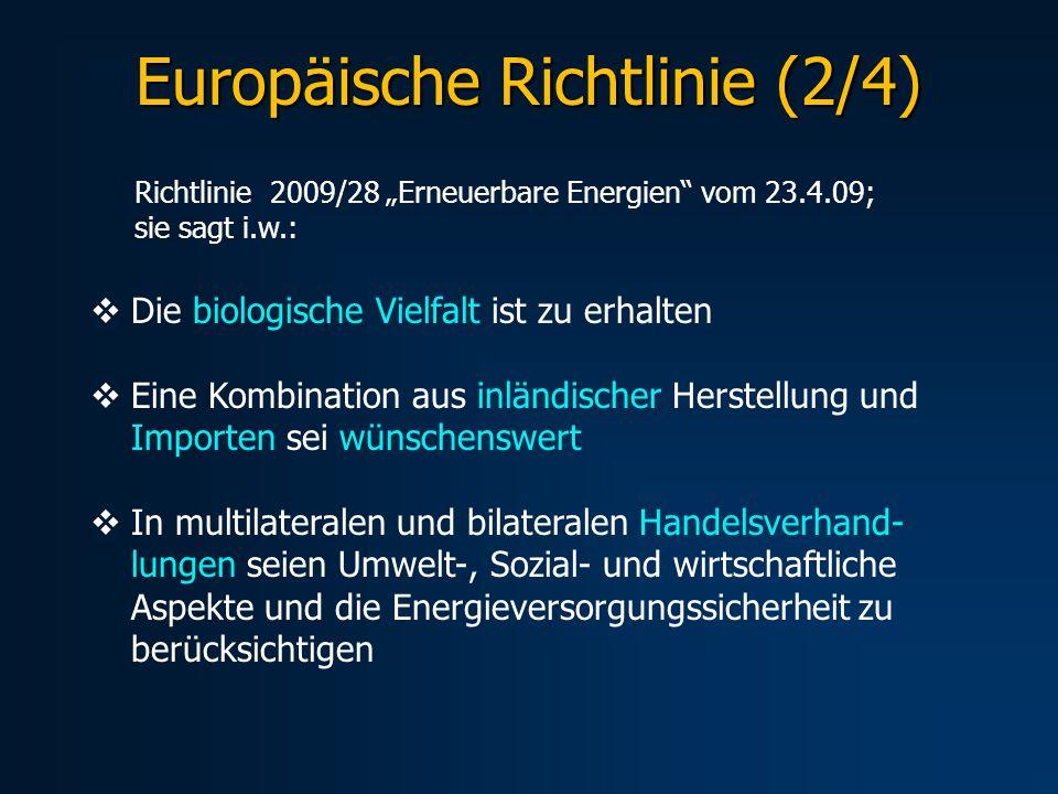 Europäische Richtlinie (2/4)