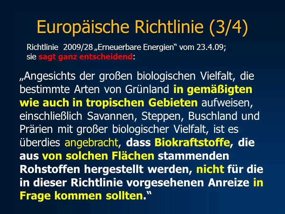 Europäische Richtlinie (3/4)