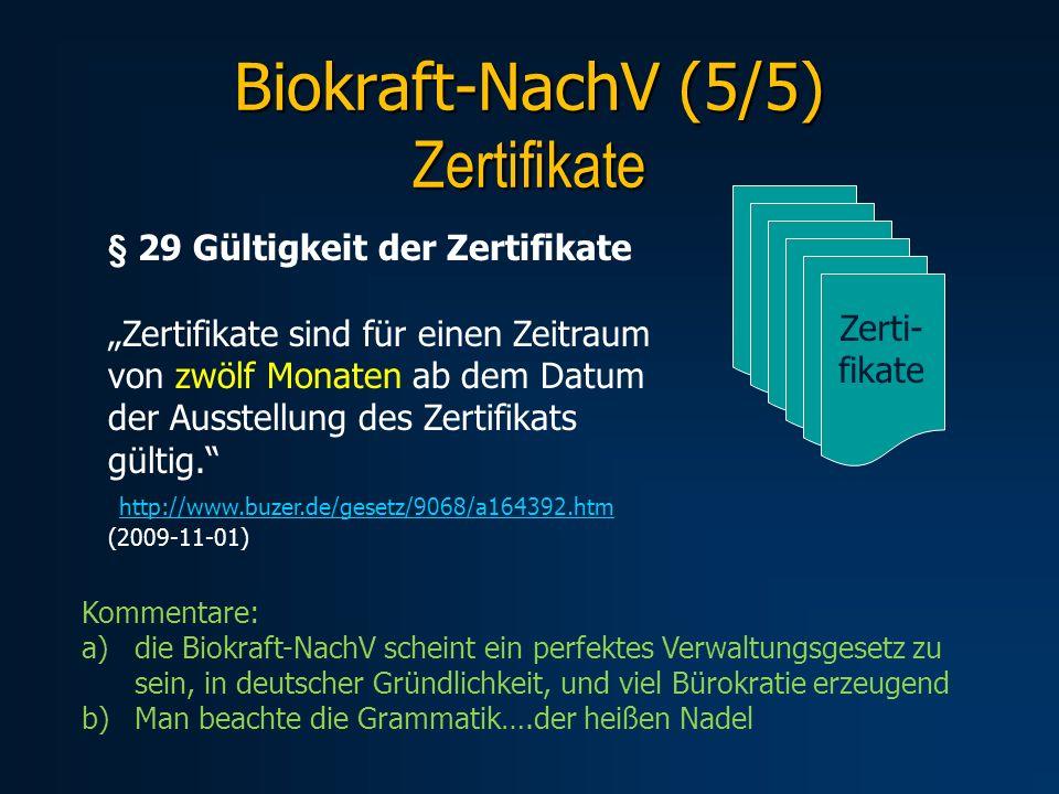 Biokraft-NachV (5/5) Zertifikate