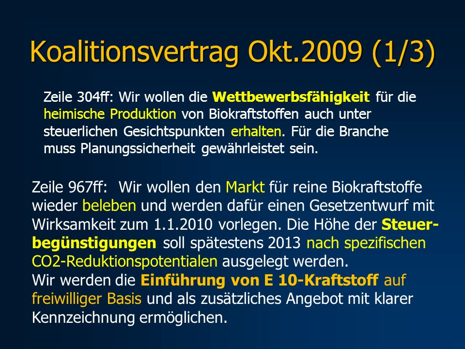Koalitionsvertrag Okt.2009 (1/3)