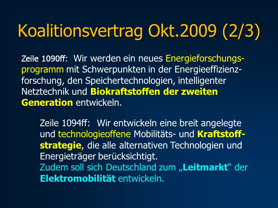 Koalitionsvertrag Okt.2009 (2/3)