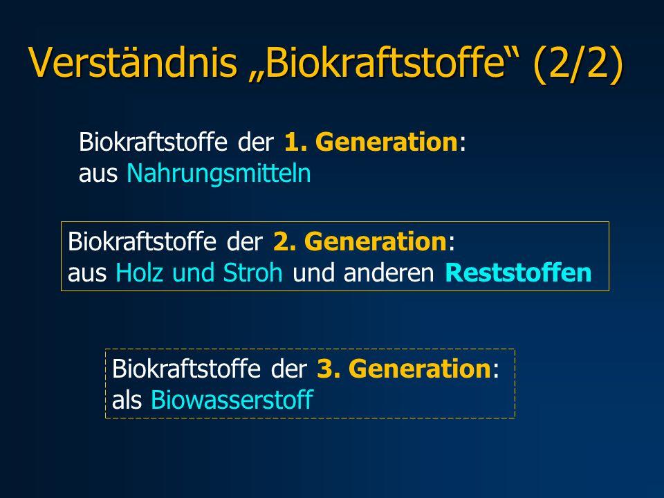 "Verständnis ""Biokraftstoffe (2/2)"