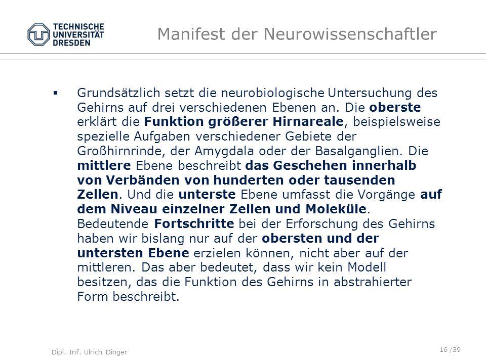 Manifest der Neurowissenschaftler