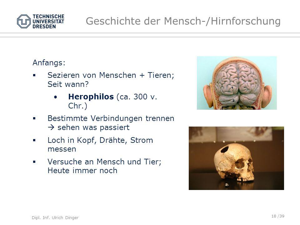 Geschichte der Mensch-/Hirnforschung