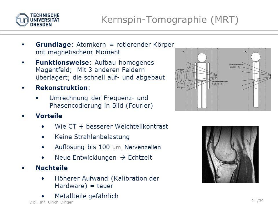 Kernspin-Tomographie (MRT)