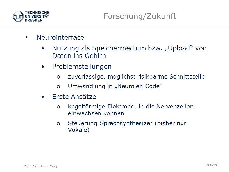 Forschung/Zukunft Neurointerface