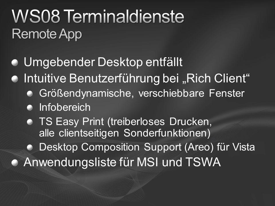WS08 Terminaldienste Remote App