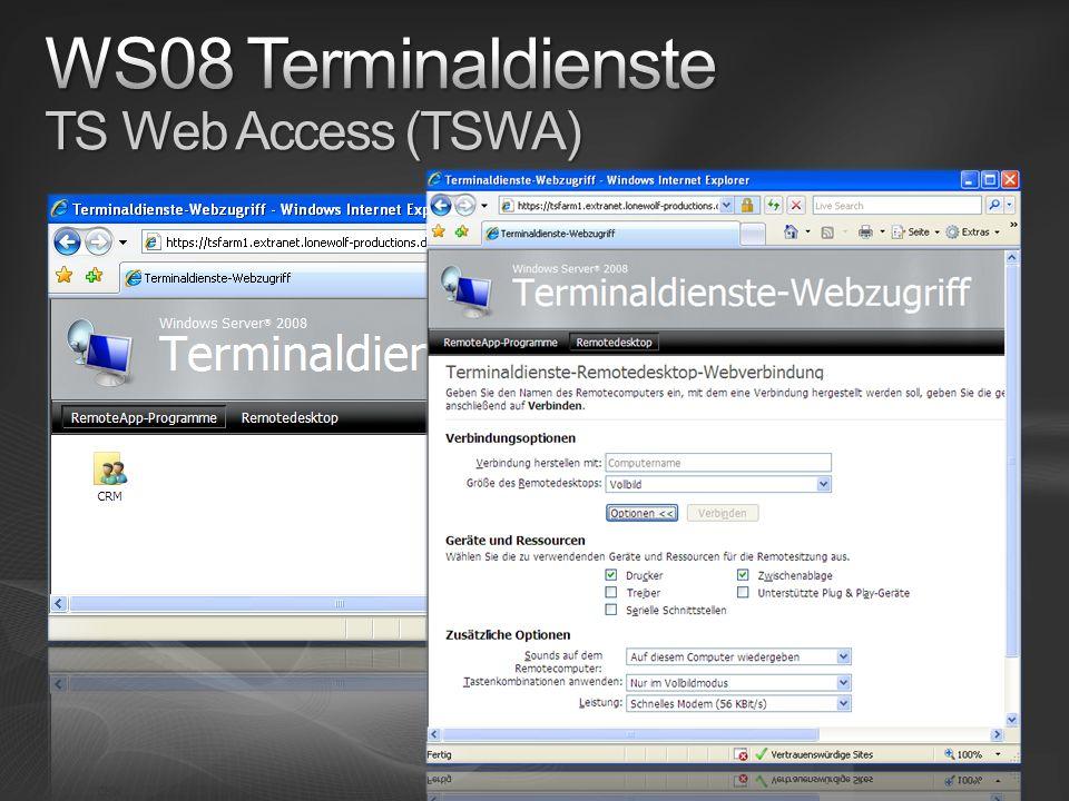 WS08 Terminaldienste TS Web Access (TSWA)