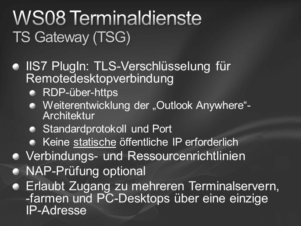 WS08 Terminaldienste TS Gateway (TSG)