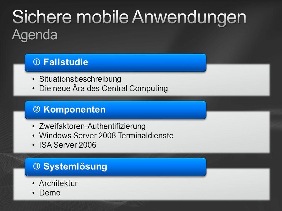 Sichere mobile Anwendungen Agenda