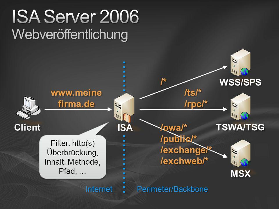 ISA Server 2006 Webveröffentlichung