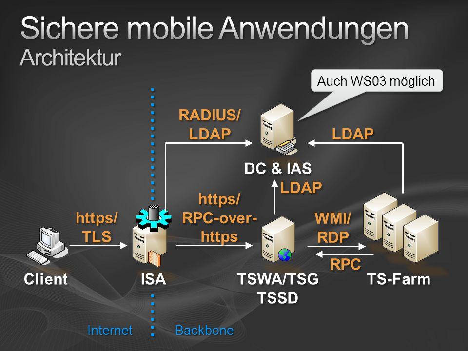 Sichere mobile Anwendungen Architektur