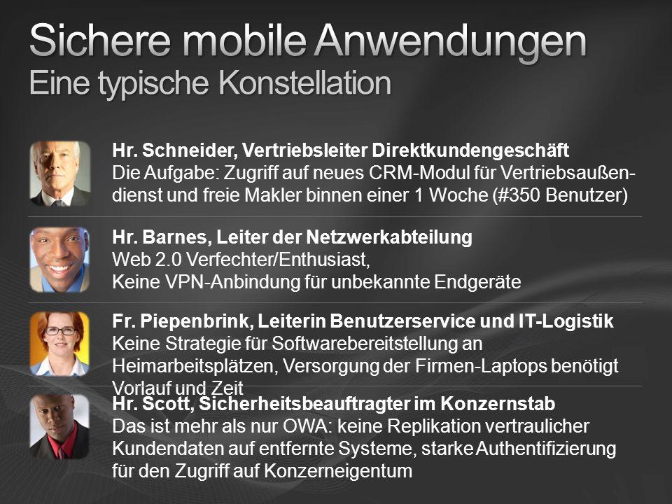 Sichere mobile Anwendungen Eine typische Konstellation