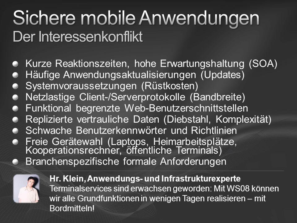 Sichere mobile Anwendungen Der Interessenkonflikt