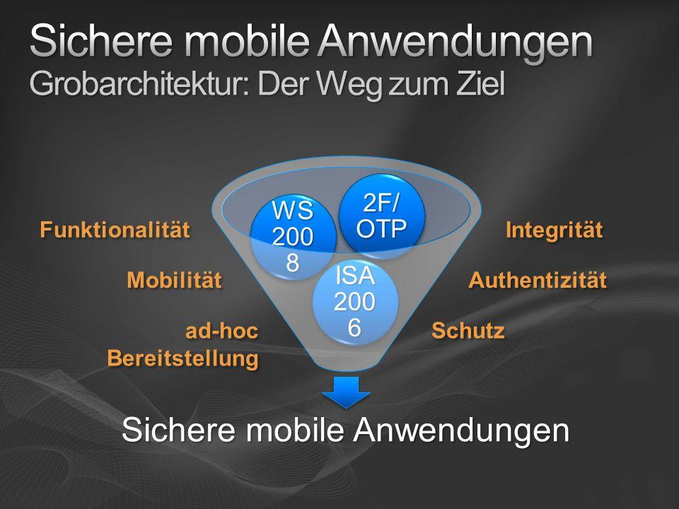 Sichere mobile Anwendungen Grobarchitektur: Der Weg zum Ziel