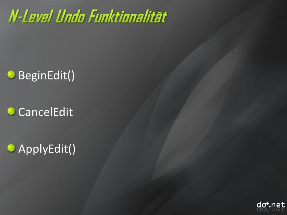 N-Level Undo Funktionalität