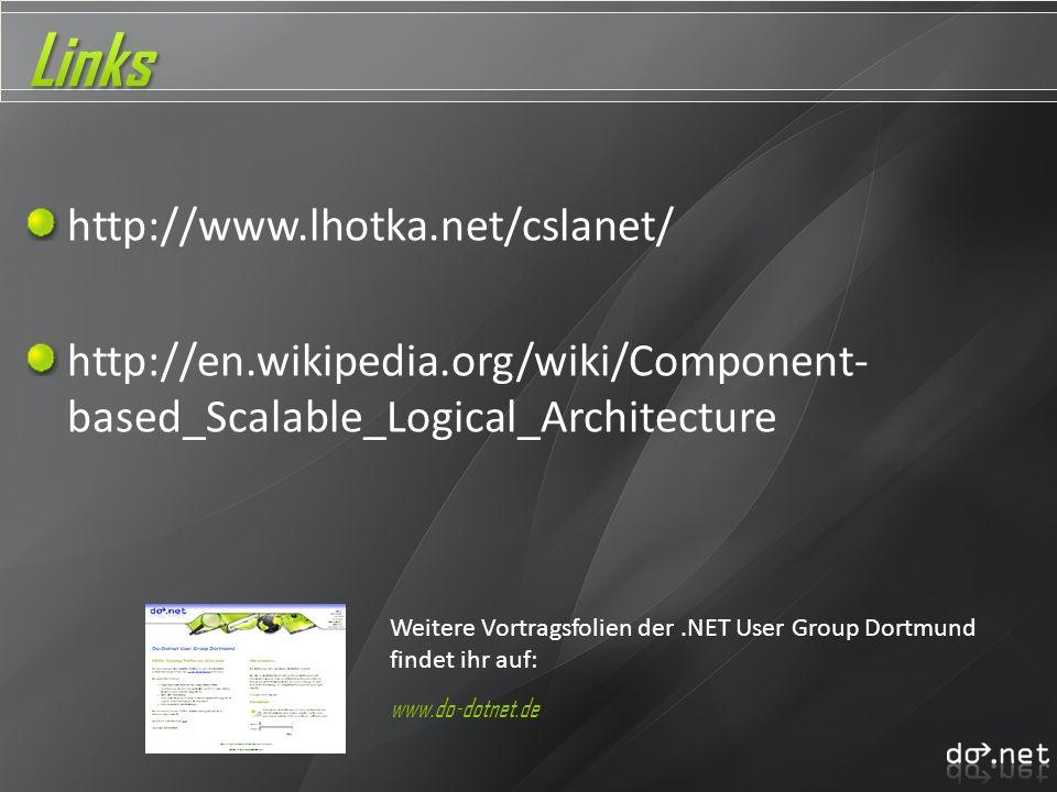 Links http://www.lhotka.net/cslanet/