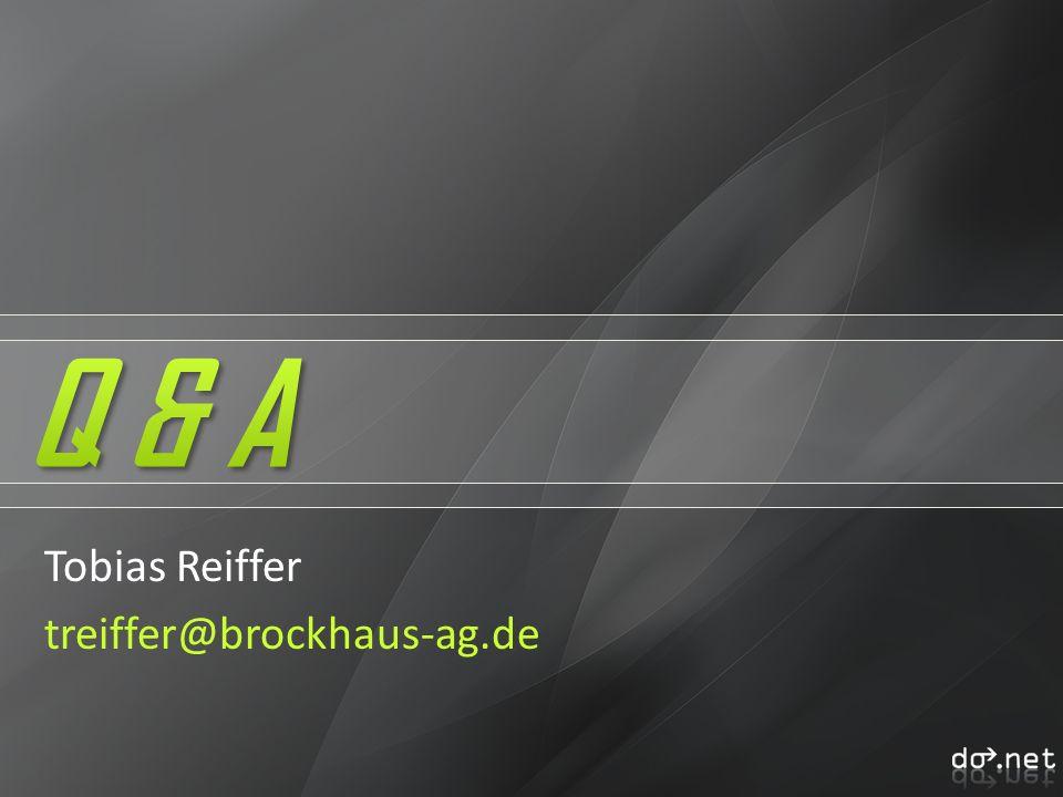 Q & A Tobias Reiffer treiffer@brockhaus-ag.de
