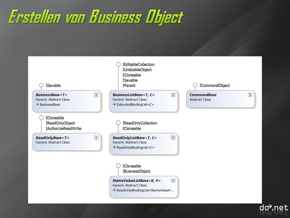 Erstellen von Business Object