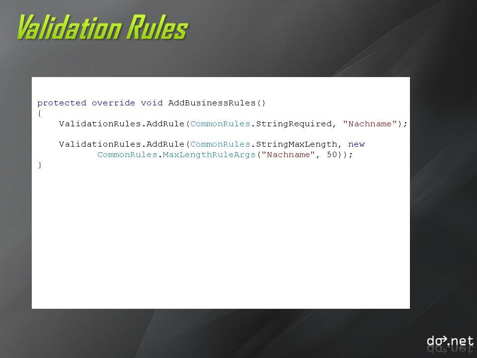 Validation Rules