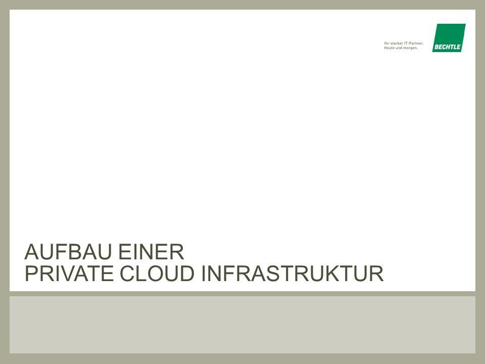 Aufbau einer private cloud infrastruktur
