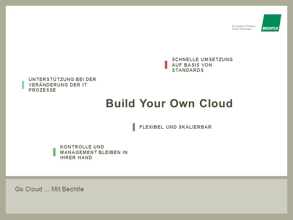 Build Your Own Cloud Go Cloud ... Mit Bechtle