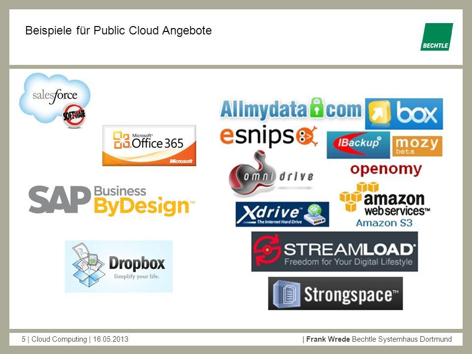 Beispiele für Public Cloud Angebote