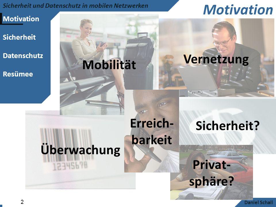 Motivation Mobilität Vernetzung Erreich-barkeit Sicherheit