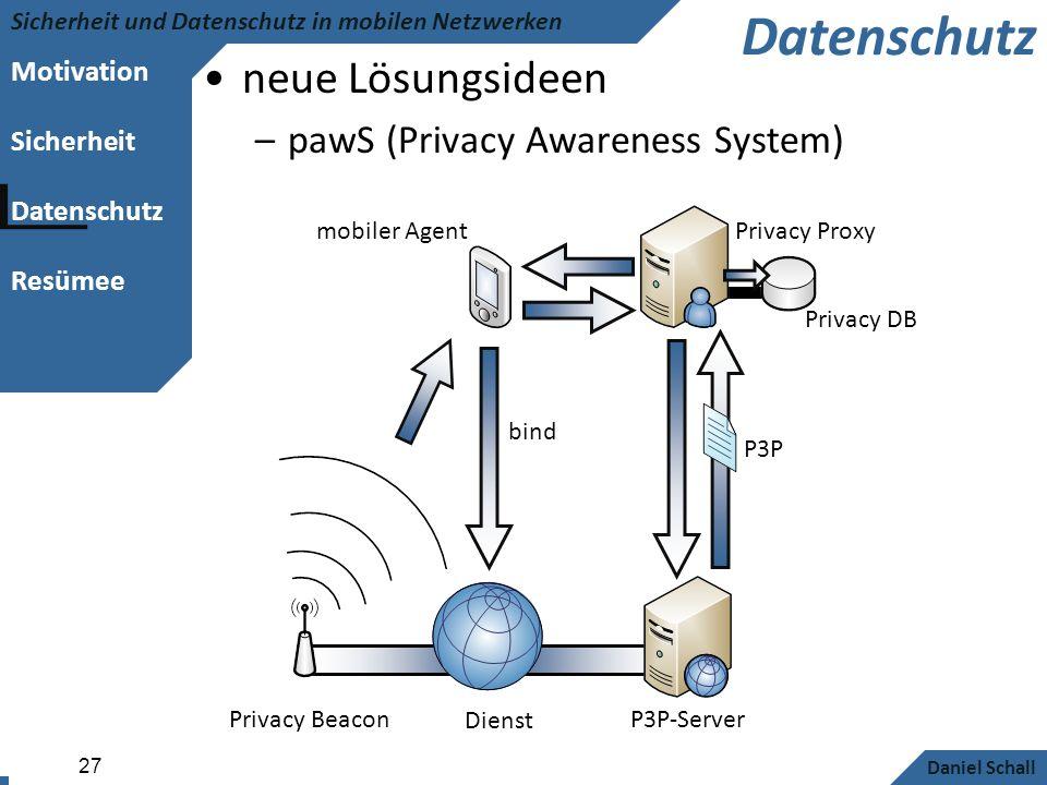 Datenschutz neue Lösungsideen pawS (Privacy Awareness System)