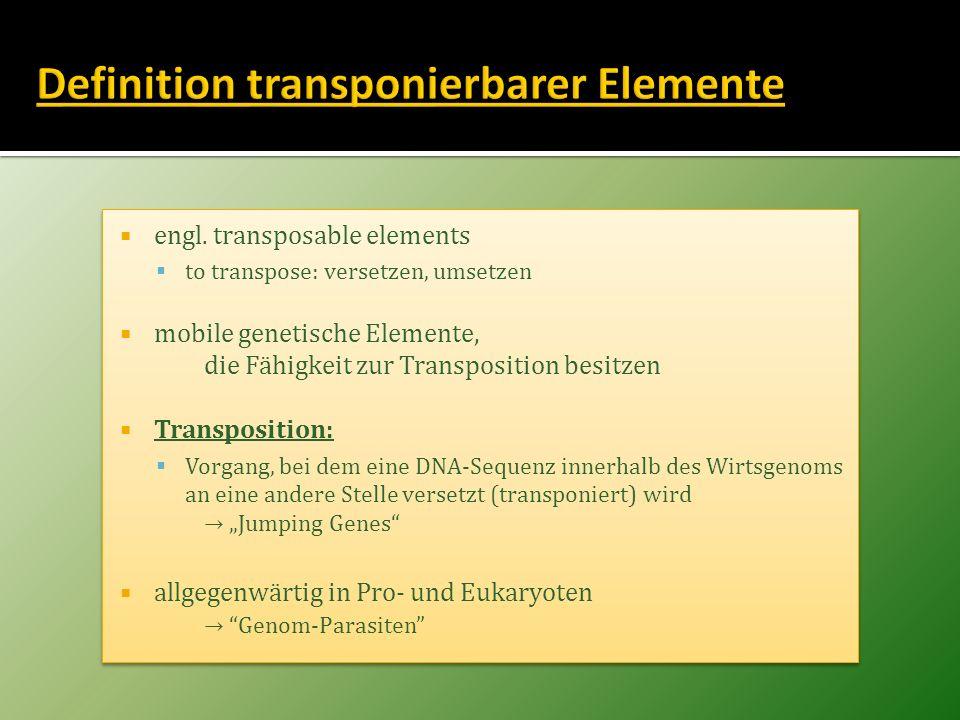 Definition transponierbarer Elemente