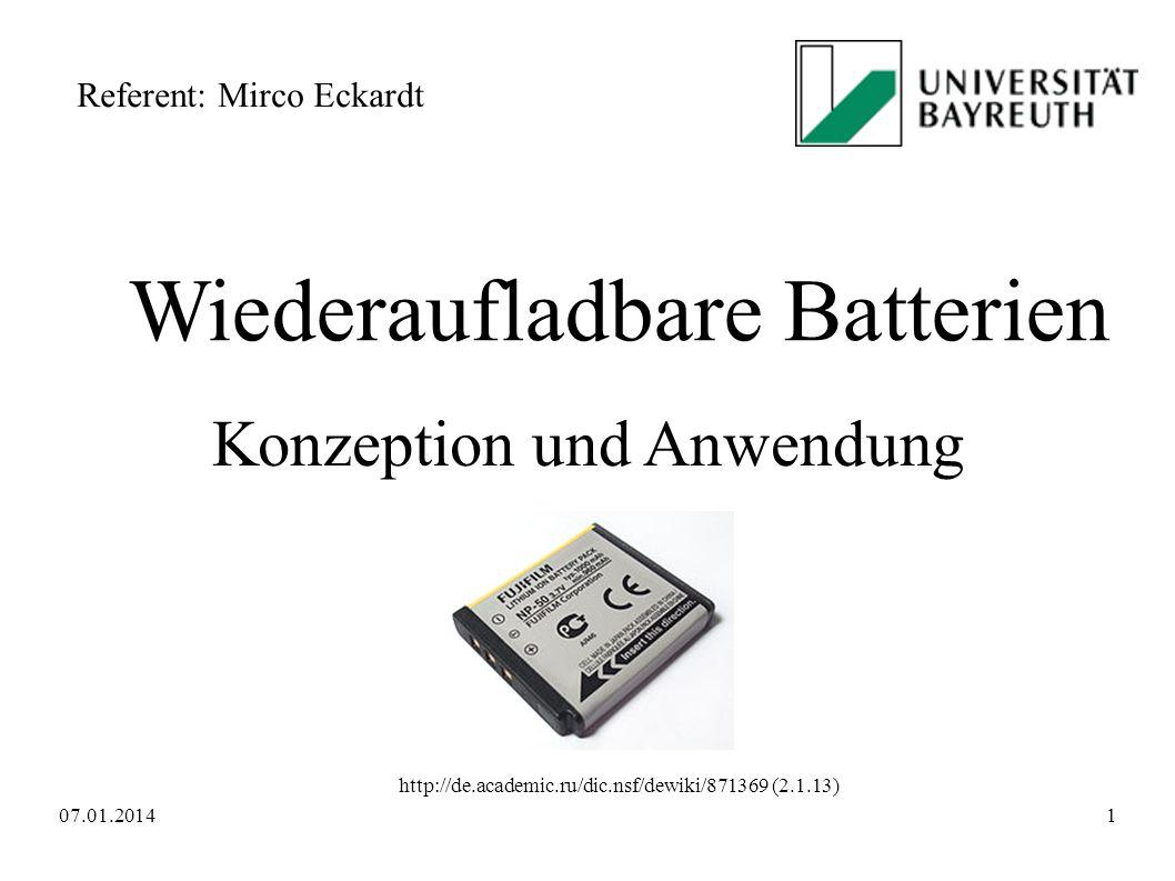 Wiederaufladbare Batterien