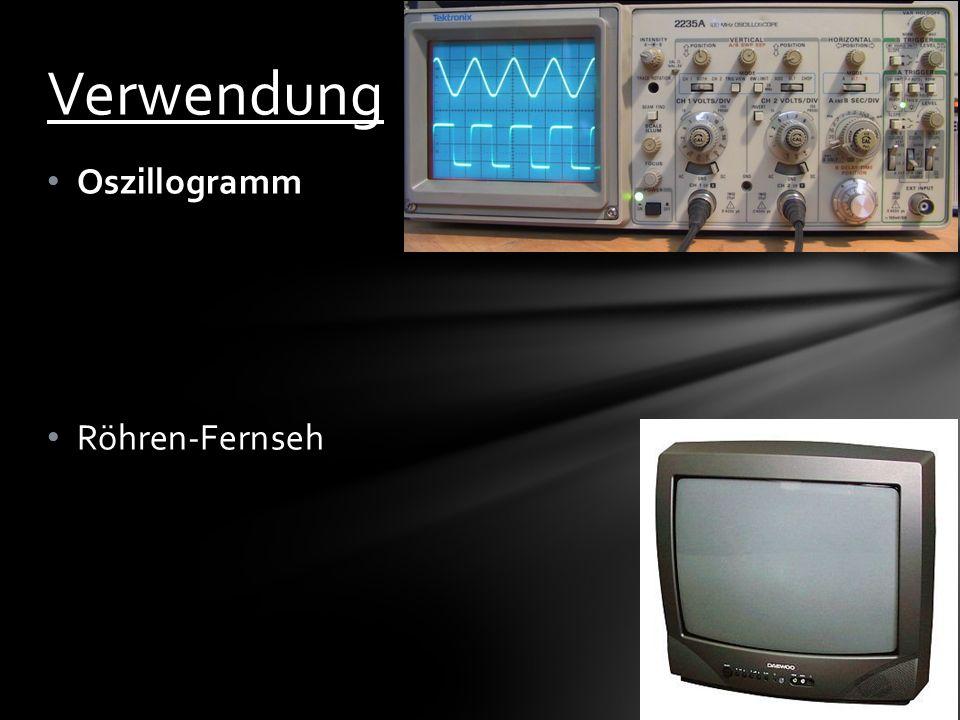 Verwendung Oszillogramm Röhren-Fernseh
